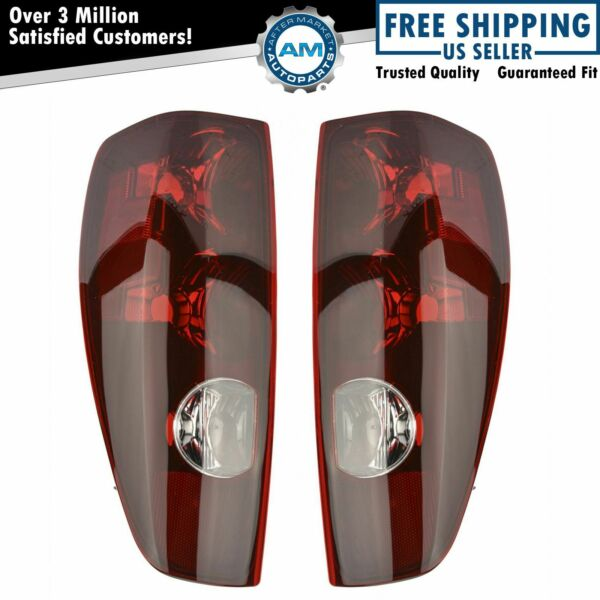 Taillights Taillamps Rear Brake Lights Pair Set NEW for 04-12 Colorado Canyon