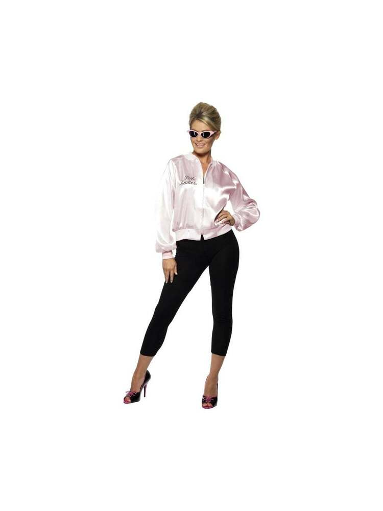 FANCY DRESS PINK LADIES JACKET GREASE HEN NIGHT PARTY COSTUME HEN PARTY COSTUMES   eBay