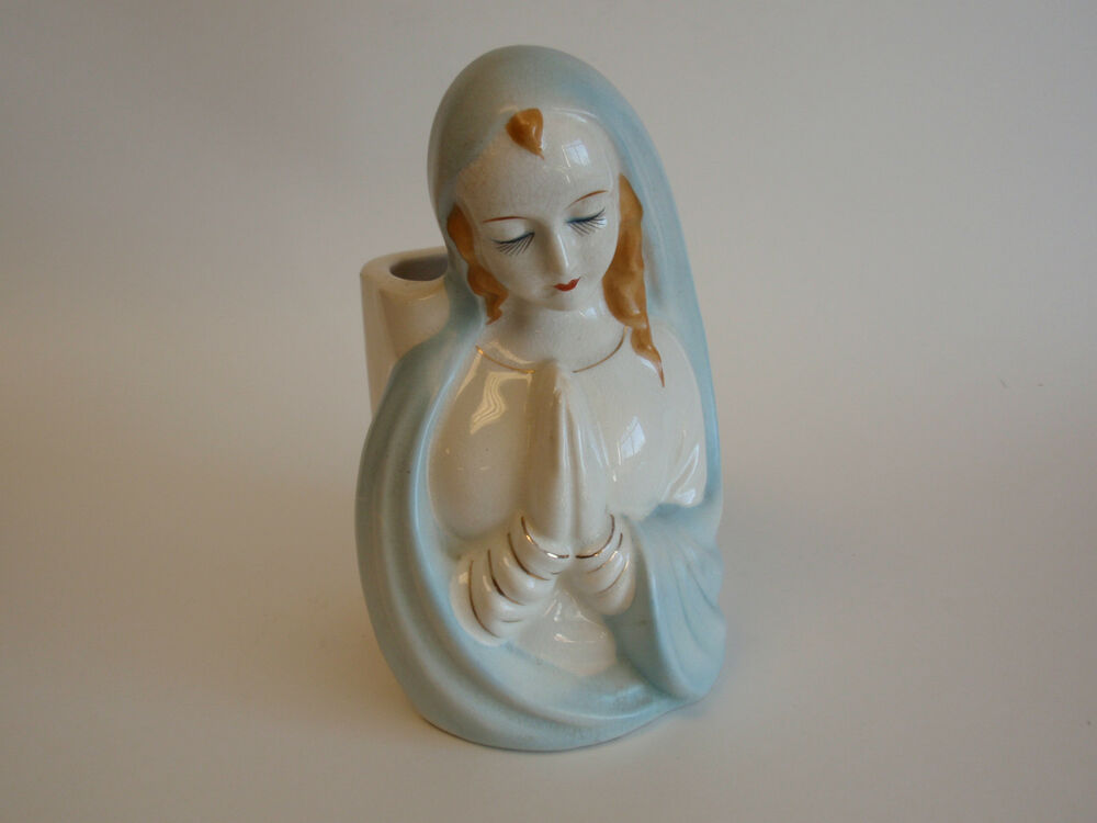 vintage virgin mary planter