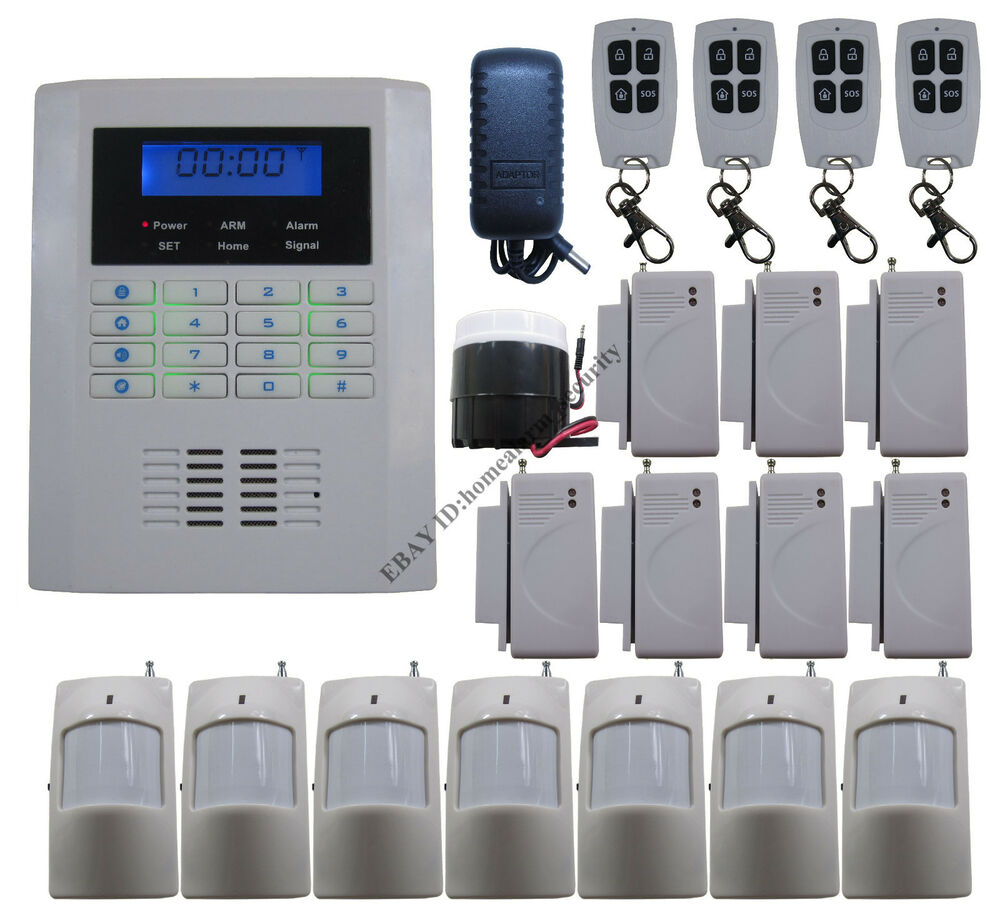 A18 101 Zones Wireless Quad 4 Bands Gsm Pstn Home Security