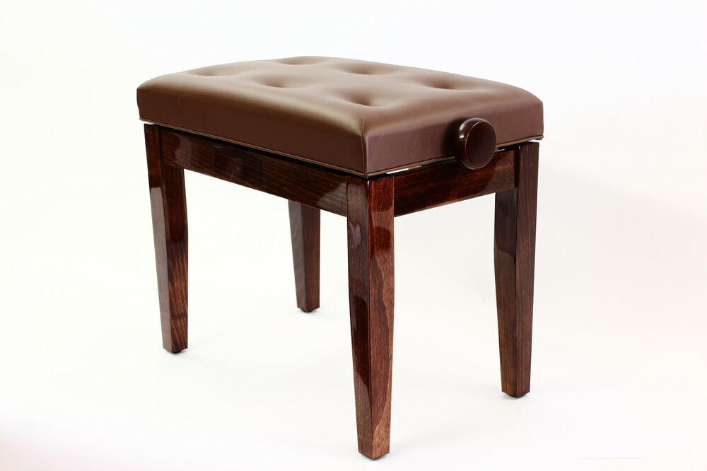 Piano stool prima adjustable luxurious seat solid