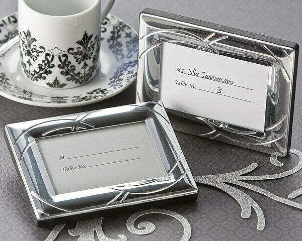 24 Double Ring Romance Mini Photo Frame Place Card Holders Wedding Favors