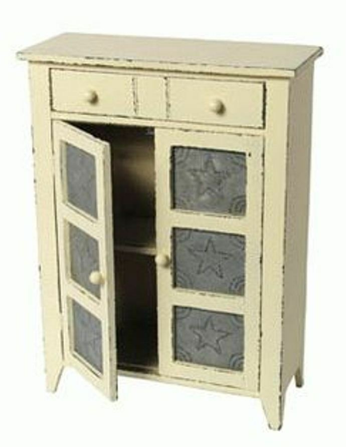 Replica Salesman Sample Mini Pie Safe Cabinet Shelves