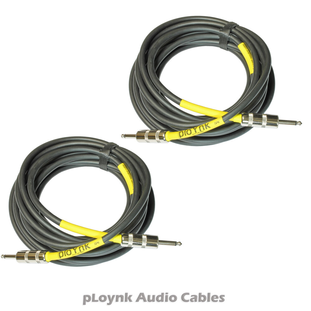 Professional Audio Cables : Ploynk audio heavy duty professional grade pa amp to