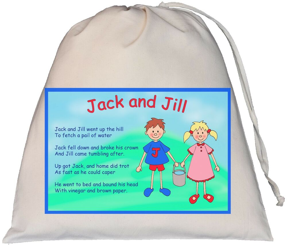 Jack And Jill Drawstring Bag Teaching Resource Sack