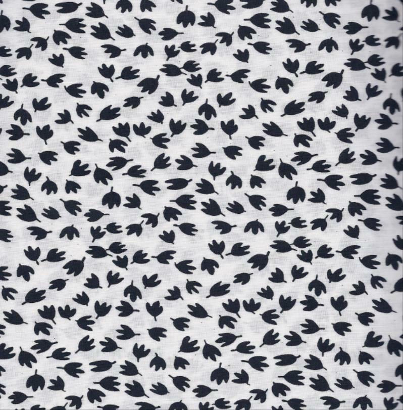 Quilt fabric 100 cotton black white print 0107813 by for Cotton fabric by the yard