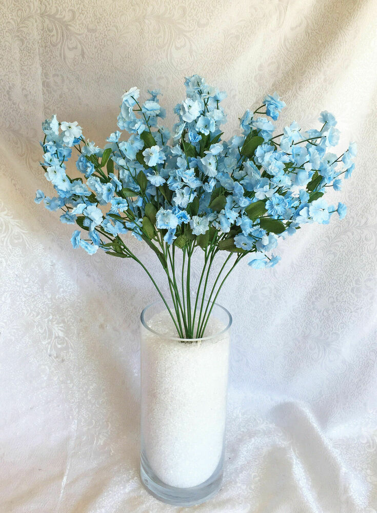 Baby s breath light blue gypsophila silk wedding