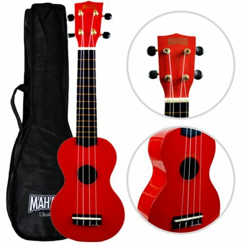 mahalo soprano ukulele red with matching case ebay. Black Bedroom Furniture Sets. Home Design Ideas