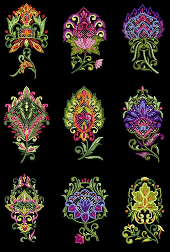Jumbo wild flowers machine embroidery designs cd 5x7 for for Wild design