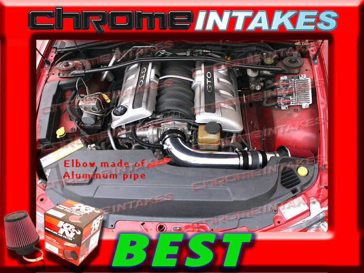 K/&N+BLACK RED 2005 2006 PONTIAC GTO G T O 5.7 5.7L//6.0 6.0L V8 FULL AIR INTAKE