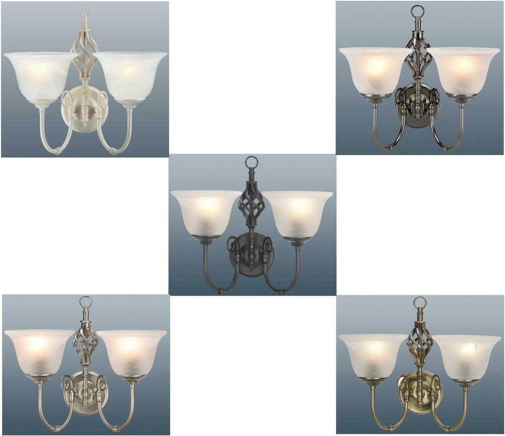 2 Arm Berkeley Scroll Wall Light Lamp Fitting with Murano Glass Shades NEW eBay