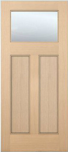 Exterior Entry Hemlock Craftsman Flat Panel Solid Stain