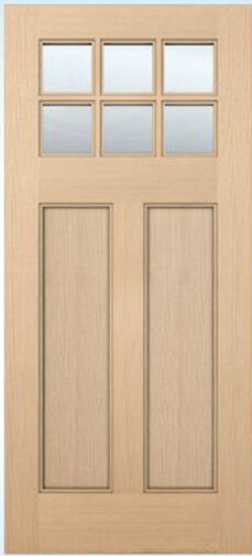 Exterior Entry Craftsman Flat Panel Hemlock Solid Stain