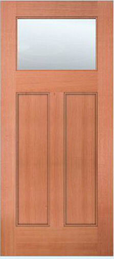 Exterior entry mahogany craftsman flat panel solid stain for Flat solid wood door