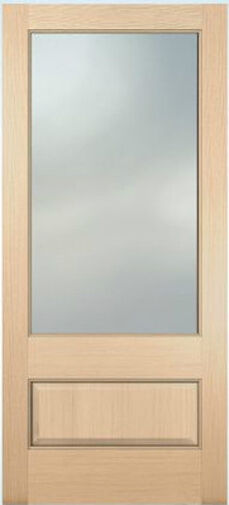 Exterior hemlock solid wood stain grade french doors 1 for Solid french doors exterior