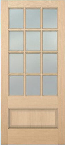 Exterior hemlock solid wood stain grade french doors 12 for 15 panel solid wood door