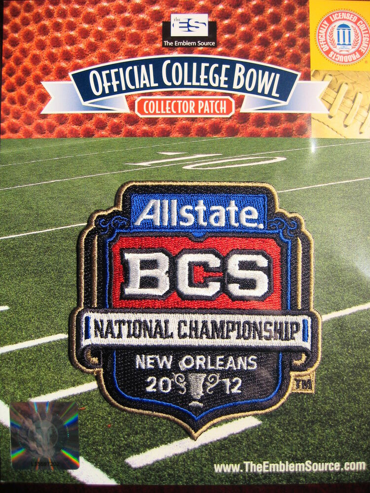 My Allstate Sign In >> NCAA Official 2012 AllState BCS National Championship Bowl Patch Alabama LSU   eBay
