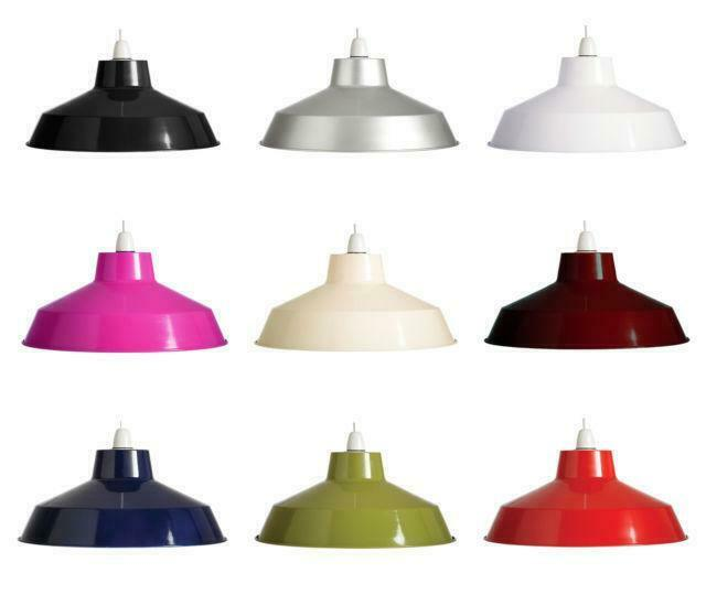 "14"" Retro Metal Coolie Lampshade Ceiling Light Pendant"