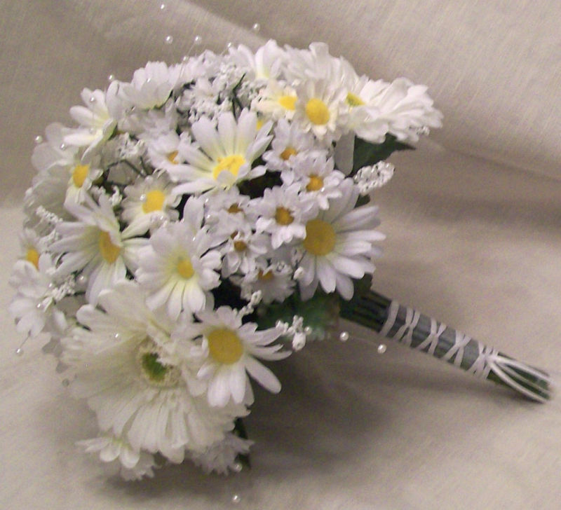daisy flower bouquet wedding wedding bridal bouquets white wedding package ebay 3287