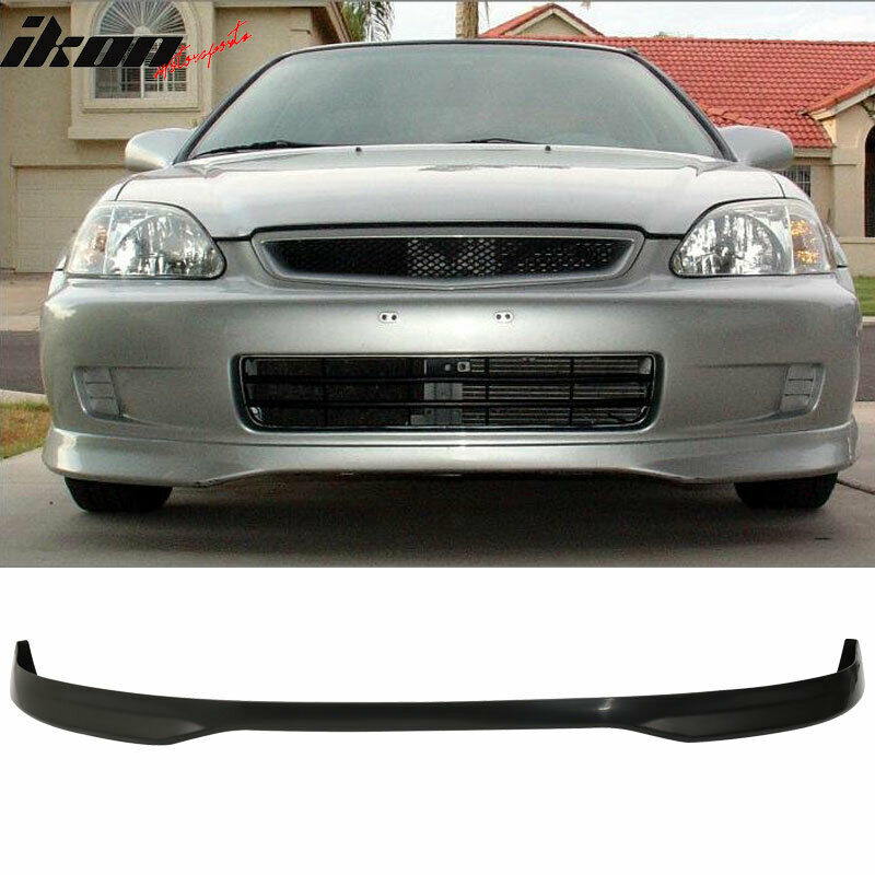 pp front bumper lip spoiler fits 99 00 honda civic ek. Black Bedroom Furniture Sets. Home Design Ideas