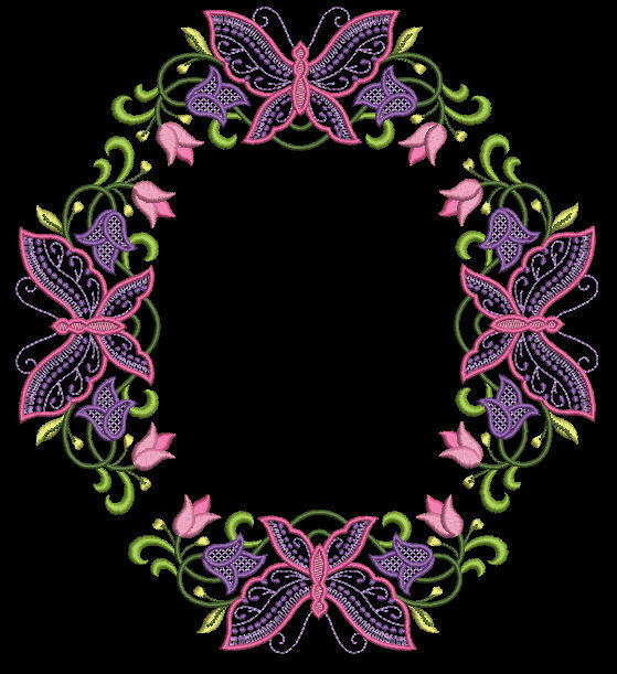 Floral butterfly butterflies machine embroidery designs for Embroidery office design version 7 5