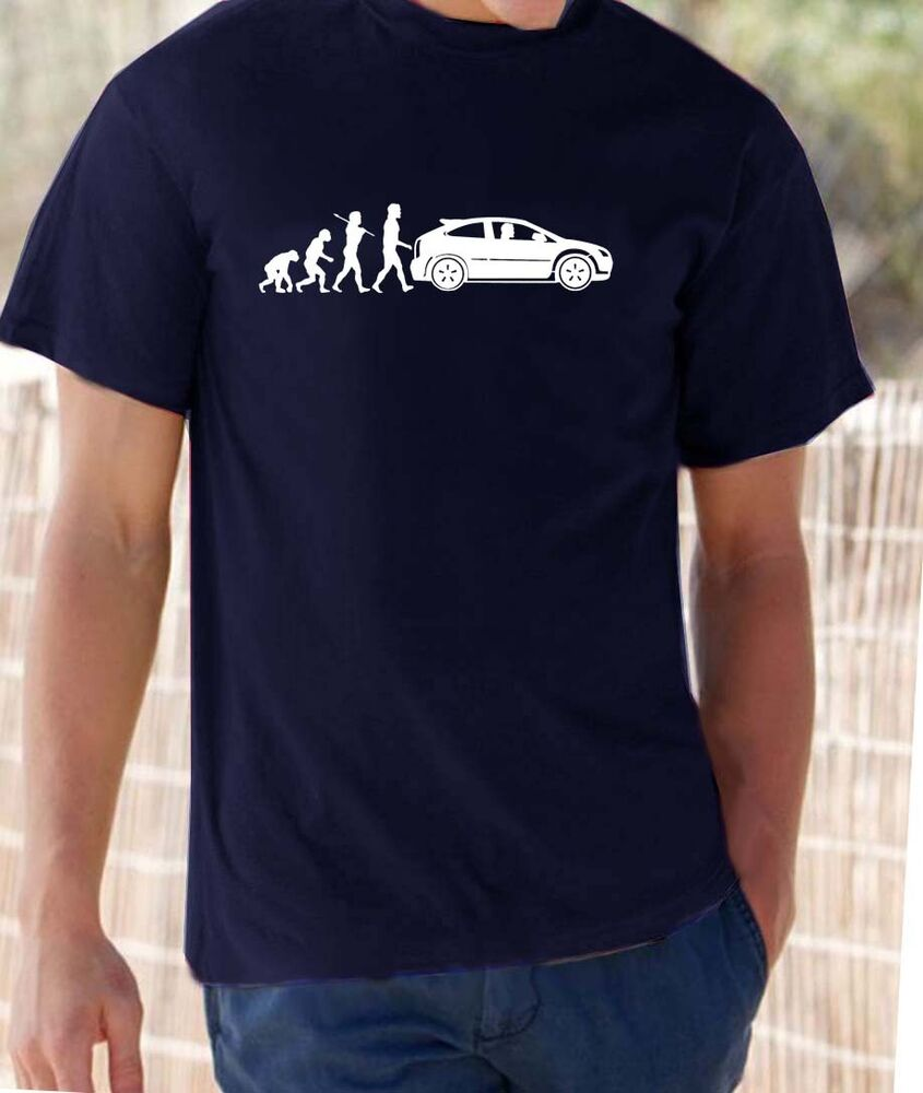 Quot Evolution Of Man Quot Ford Focus St T Shirt Ebay