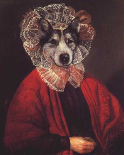Siberian husky vintage dog art print poncelet ebay for Dog painting artist