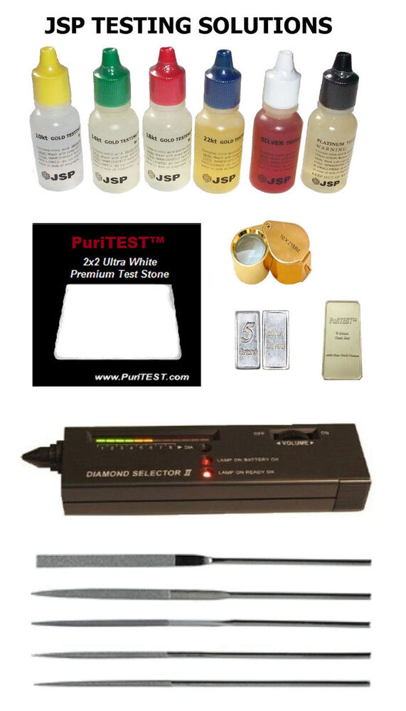 Gold Tester Kit : Gold acid testing kit electronic diamond tester dwt oz