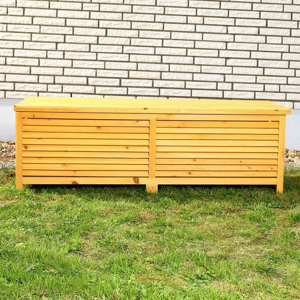 holz auflagenbox kissenbox gartenbox gartentruhe box auflagen truhe holztruhe wo ebay. Black Bedroom Furniture Sets. Home Design Ideas
