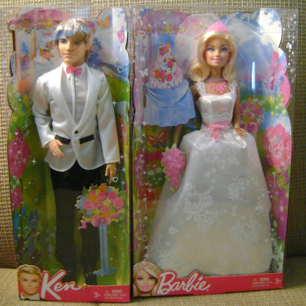 BARBIE WEDDING DAY ROYAL BRIDE DOLL W/ GROOM KEN *NEW