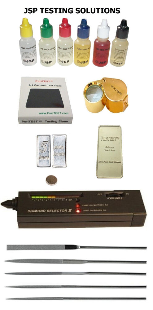 New Electronic Gold Tester : Gold acid testing kit electronic diamond tester dwt oz