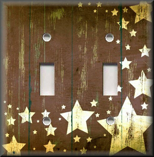 Light switch plate cover country home decor aged barn for Barn star decorations home