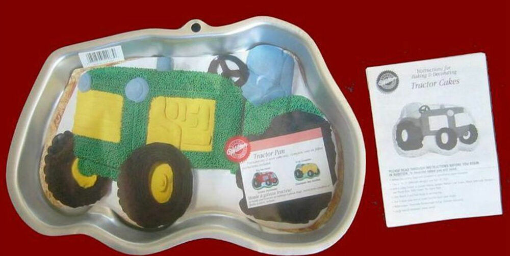 Tractor Cake Pan : New wilton green tractor cake pan complete ebay
