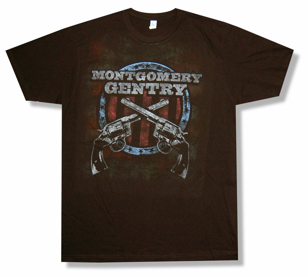 Montgomery gentry crossed guns tour bakersfield T shirt outlet bakersfield ca