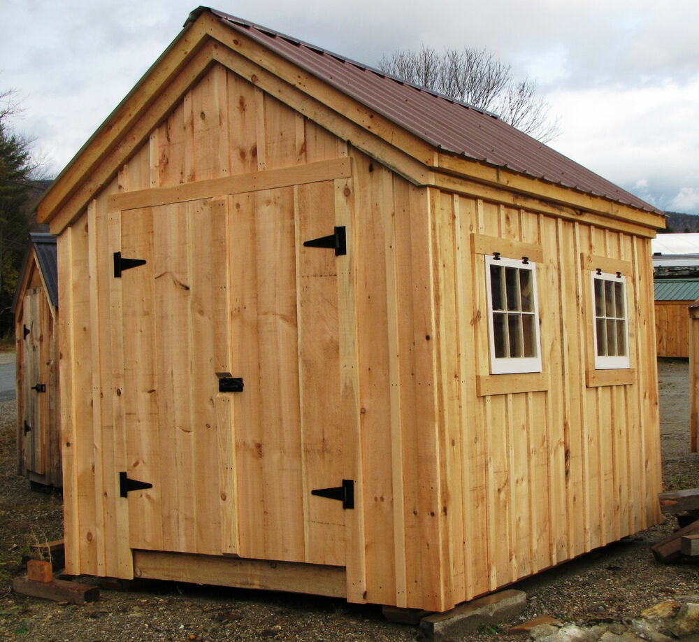 Gable Shed Plans Choose Your Size Yard Outdoor Tool