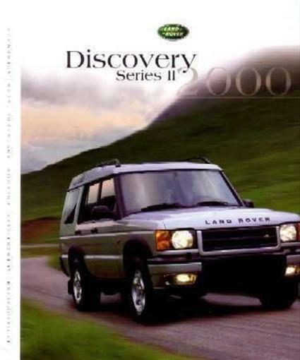 2000 Land Rover Discovery II Sales Brochure Literature