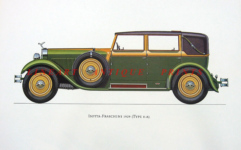 Isotta Fraschini Tipo 8 A Classic Luxury Sports Motor Car