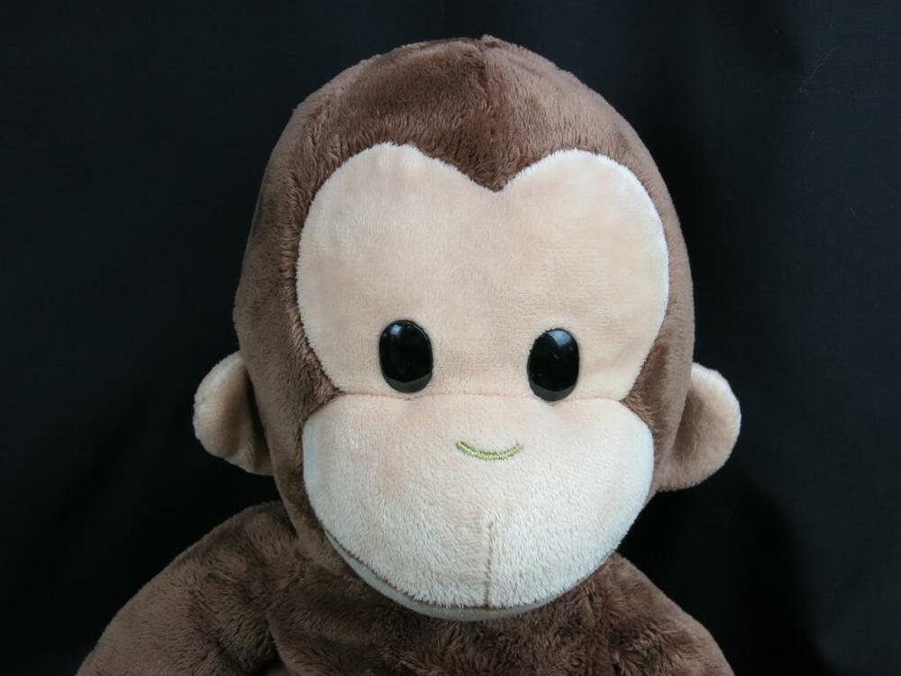 big applause curious george adorable brown monkey cartoon plush stuffed animal ebay. Black Bedroom Furniture Sets. Home Design Ideas