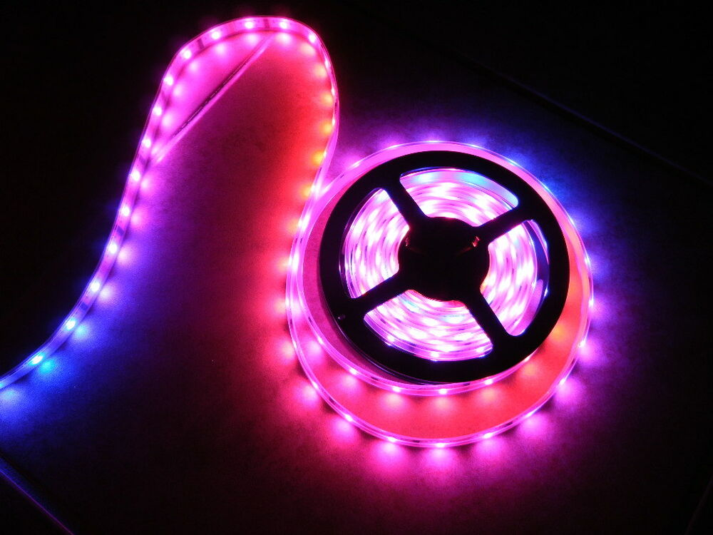 12v volt 5050 led crazy lights tape rope lighting multi colored. Black Bedroom Furniture Sets. Home Design Ideas