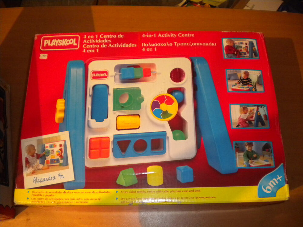 1995 VINTAGE PLAYSKOOL 4 IN 1 ACTIVITY CENTER TABLE BABY ...