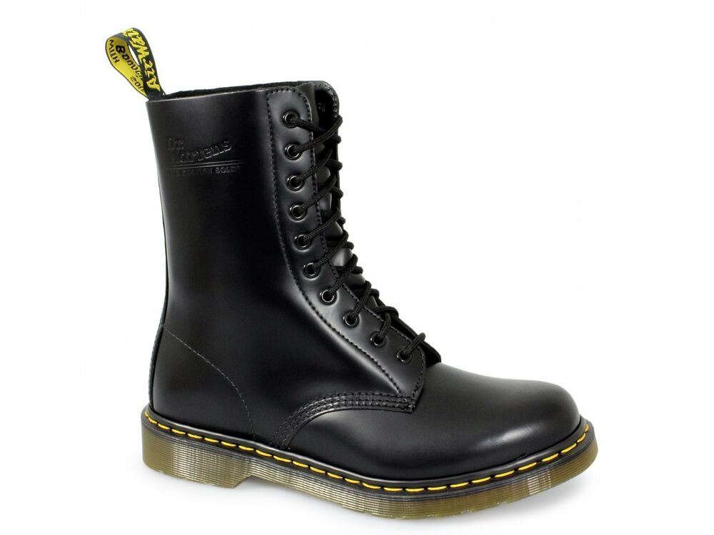 dr martens 1490z mens womens unisex classic airwair 10 eye leather boots black ebay. Black Bedroom Furniture Sets. Home Design Ideas