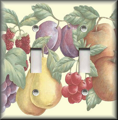 Light Switch Plate Cover Colorful Fruit Pears Cherries
