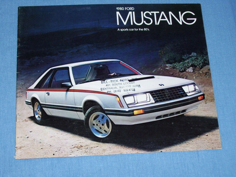 1980 ford mustang 20 page brochure nice   includes 80 ghia 1996 Ford Mustang 2011 Ford Mustang