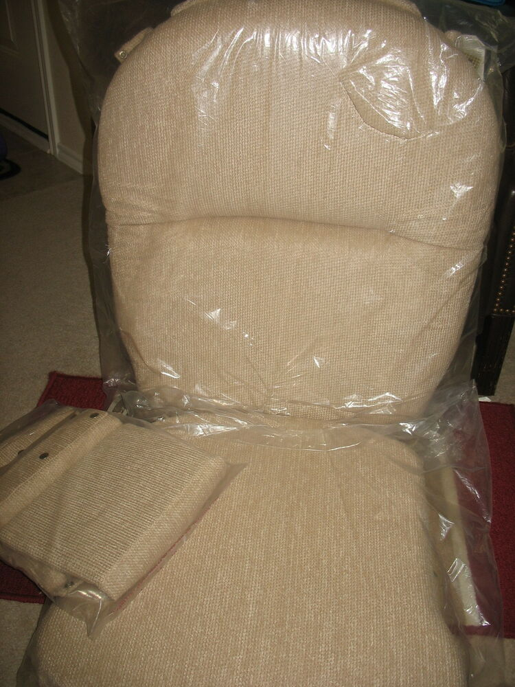 shermag rocker glider replacement cushions complete set beige tan natural new ebay. Black Bedroom Furniture Sets. Home Design Ideas