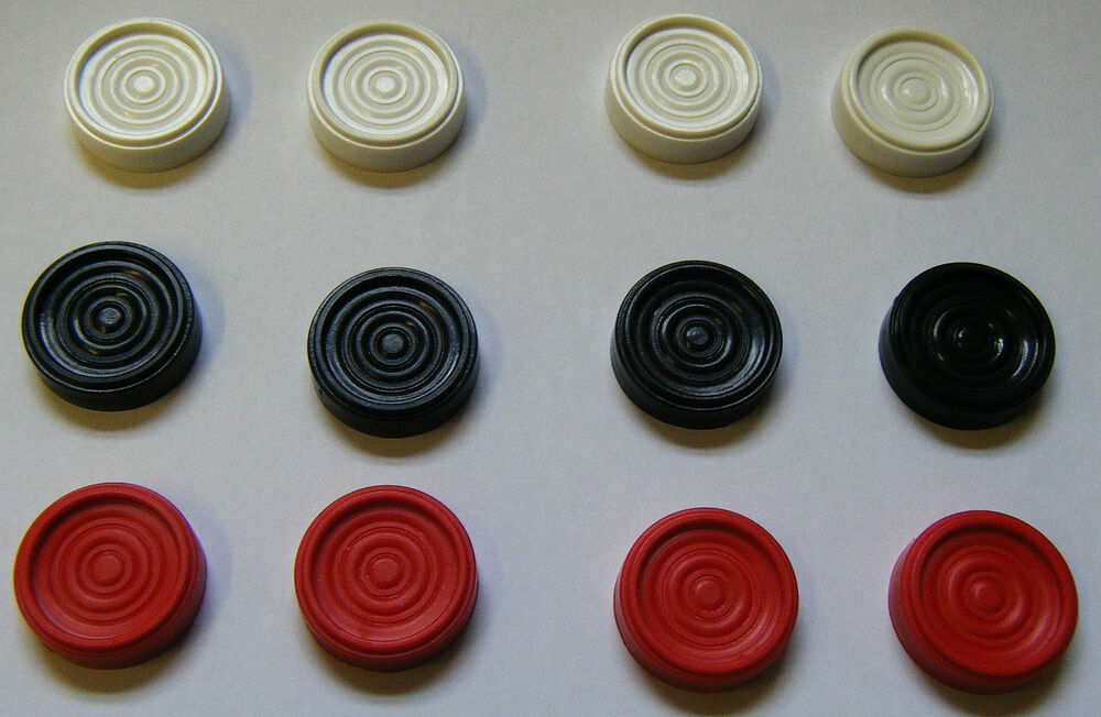 12 x Draughtsmen Checkers Board Game Pieces Firetop ...