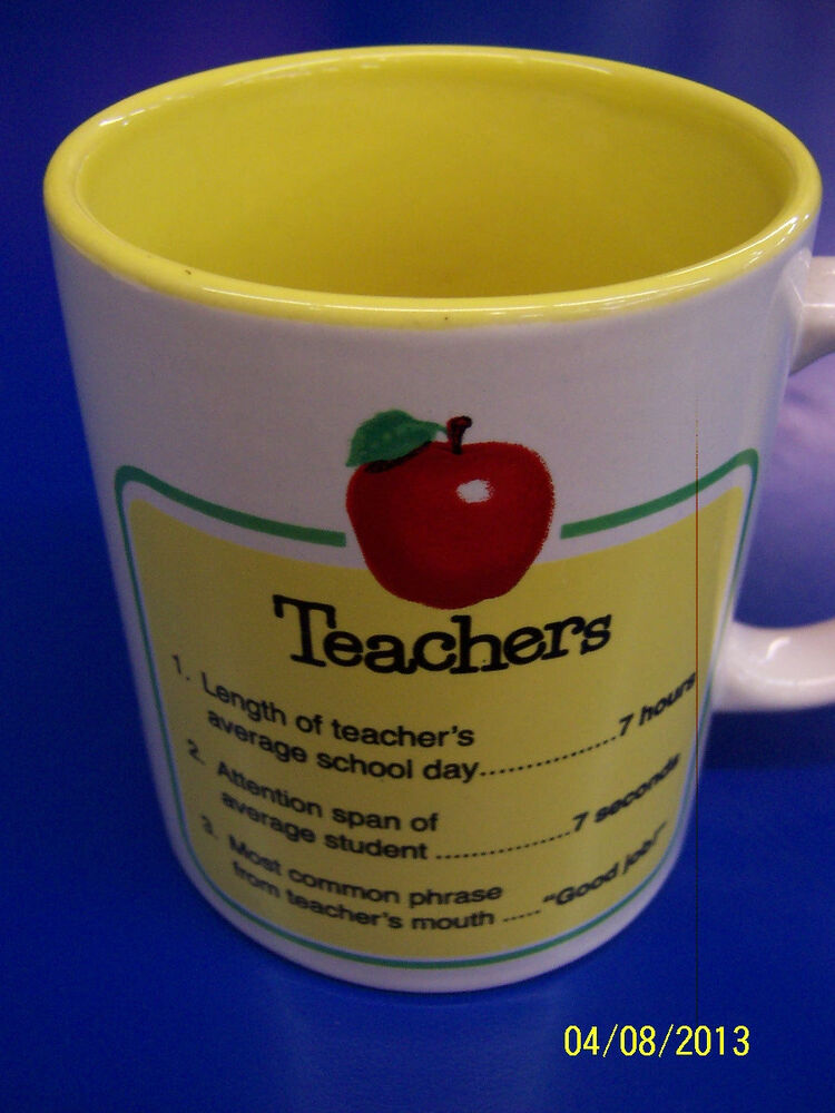Teachers White Yellow Facts Statistics Cute Teacher Gift