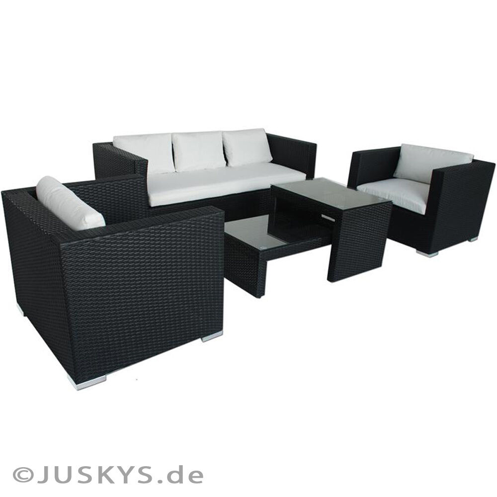 polyrattan gartenm bel poly rattan lounge gartenset garnitur sitzgruppe alu ebay. Black Bedroom Furniture Sets. Home Design Ideas