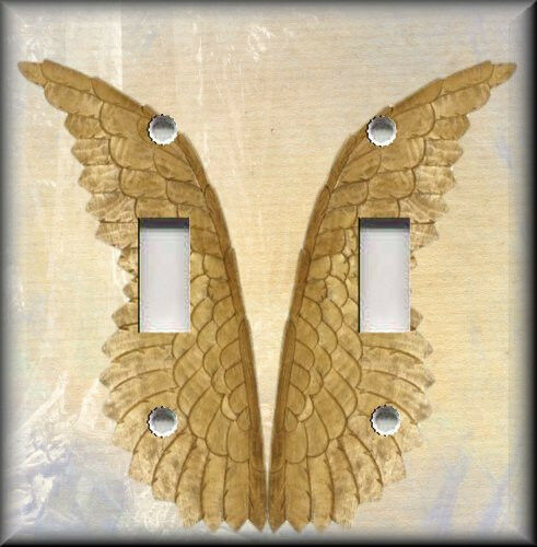 Light Switch Plate Cover Angel Wings Home Decor Ebay
