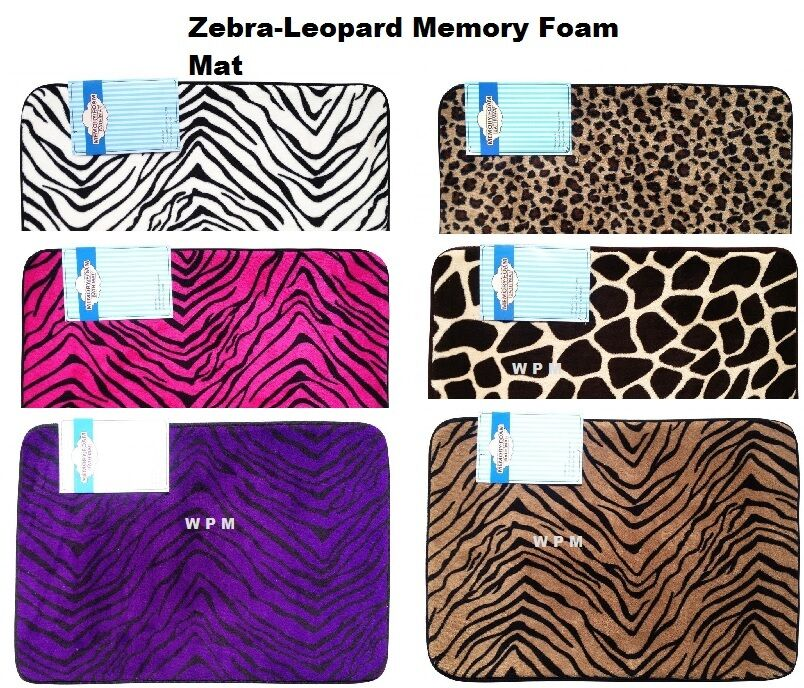 Luxury Memory Foam Bath Mat Carpet Rug Choose Zebra
