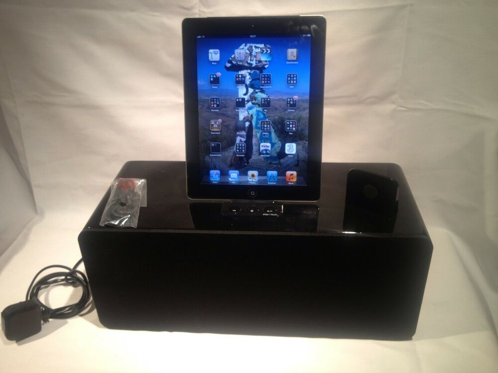 docking station iphone 5 4s 4 touch 4g nano ipad ipod speaker 100 watts ebay. Black Bedroom Furniture Sets. Home Design Ideas